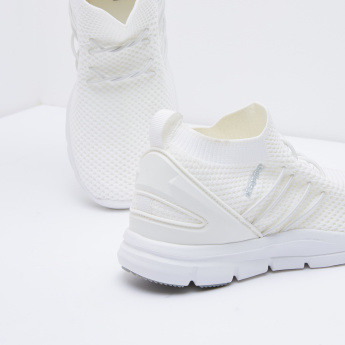 Kappa Textured Mesh Sneakers with Elasticated Laces