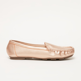 Metallic Loafers