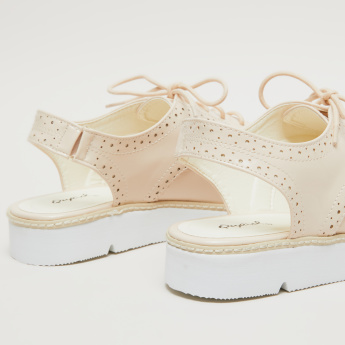 Perforated Slingback Shoes