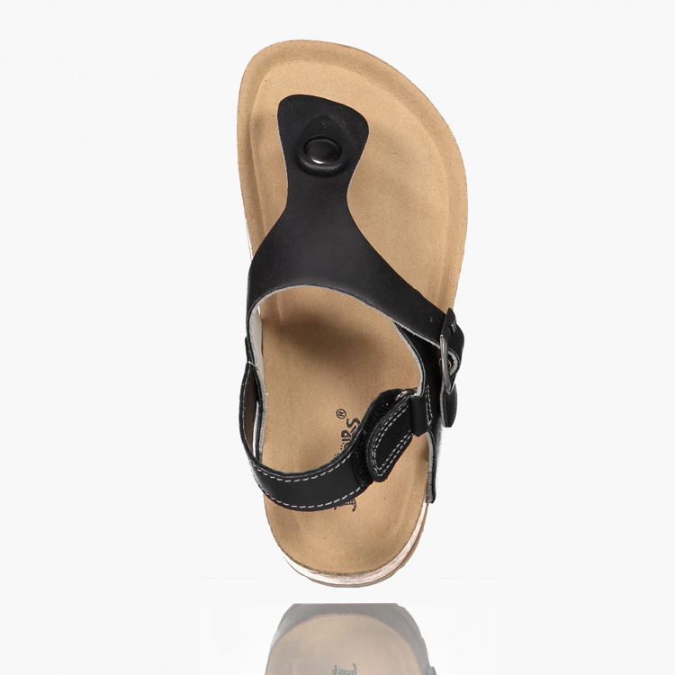 Juniors Thong Sandals with Hook and Loop Closure