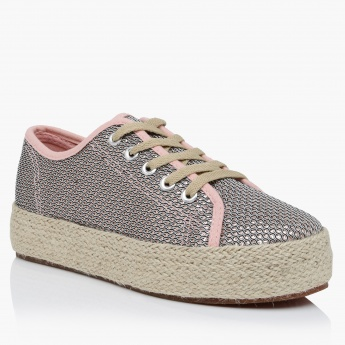 Missy Textured Lace-Up Shoes