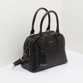 Celeste Textured Tote Bag with Zip Closure