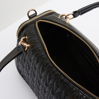 Celeste Quilted Handbag with Twin Handles