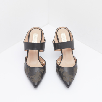 Pointed Toe Slip-On Mules