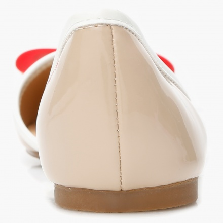 Missy Bow Applique Ballerina Shoes