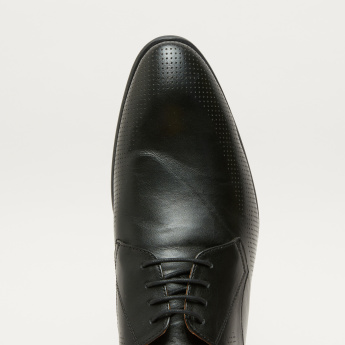 Perforated Lace-Up Derby Shoes